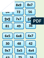 Jogo pedagógico - Baralho Multiplicação