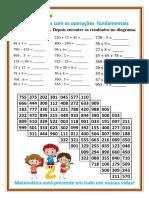 Jogo pedagógico - Caça números com as operações fundamentais