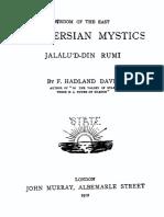 The Persian Mystics Jalalu'D-Din Rumi
