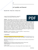 Consumer Financial Capability and Financial Satisfaction