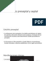 Celulitis Preseptal y Septal