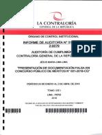 INFORME DE AUDITORÍA DE CUMPLIMIENTO CGR Presentación de documentación falsa.pdf