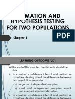 Chapter 1 Estimation and Hypothesis Testing
