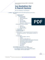 IBS Payroll System Price Quotation