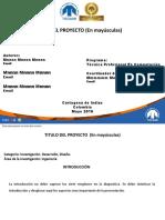 Formato Presentación Proyectos de Aula (Sustentacion-Estudiantes)