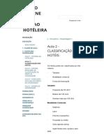 Aula - Classificação Dos Hotéis - Curso on Line de Gestao Hoteleira