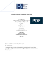 Performance of Private Credit Funds a First Look