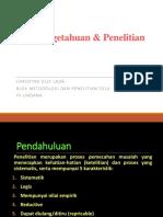 1.Ilmu Dan Penelitian Metlit 2014 Update