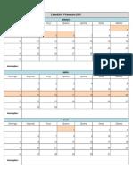 Calendário Puc 1sem 2019