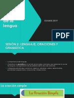 Estructura la lengua