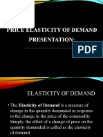 Presentation Elasticity of demand