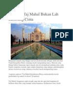 Ternyata Taj Mahal Bukan Lah Lambang Cinta.docx