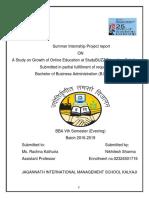 Internship Report-Nikhilesh Sharma