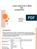 enhancing the thermal conductivity of fluid with nanoparticles.