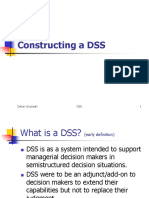 Lecture 1 - Constructing a DSS