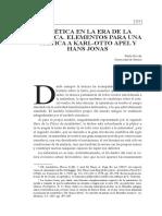 La Tica en La Era de La Tcnica Elementos Para Una Crtica a Karlotto Apel y Hans Jonas 0