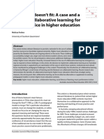 A Case and a Place for Collaborative Learning for Music Practive in Higher Education