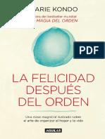 felicidad despues del orden, La - Marie Kondo.pdf