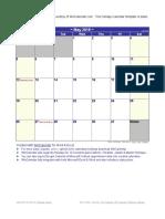 May 2019 Holiday Calendar