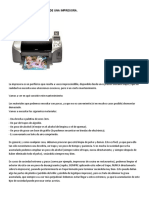Cuidados y Mantenimiento de Una Impresora