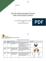 GUIA de ESPECIFICACIONES TÉCNICAS de UTPRs Guia_especificaciones_utprs_interculturales_mayo_2015