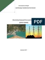 Electricity Demand Forecast Report 2014 2040
