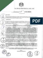Ordenanza 416-2016-MDA. RASA ATE.pdf