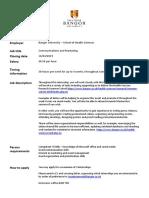 2. Communications & Marketing - Health Sciences