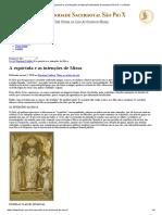 A Espórtula e as Intenções de Missa_Fraternidade Sacerdotal São Pio X No Brasil