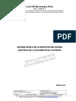 Informe Técnico de La Inspección Del Sistema Eléctrico de La Cauchera Royal Autorama