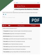Feriados 2017_ veja a lista de pontos facultativos e feriados nacionais _ Política _ G1.pdf