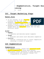 Chapter 7- Segmentation, Target Marketing, And Positioning