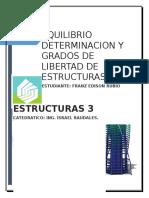 Equilibrio Determinacion y Grados de Libertad de Estructuras