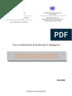 Méthode pour le choix des indicateurs et rôle de l'observatoire de la pauvreté