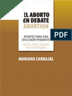 EL ABORTO EN DEBATE - MARIANA CARBAJAL