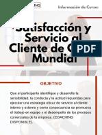 Curso Satisfacción y Servicio Al Cliente de Clase Mundial