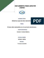 Tarea 1 de Didactica Especial de La Matematica