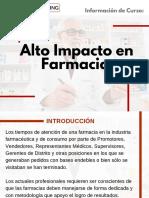 Curso Alto Impacto en Farmacias
