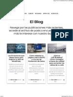 Blog Publicaciones Recientes