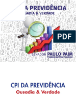 CPI Da Previdência - Ousadia e Verdade - Cartilha - 2018
