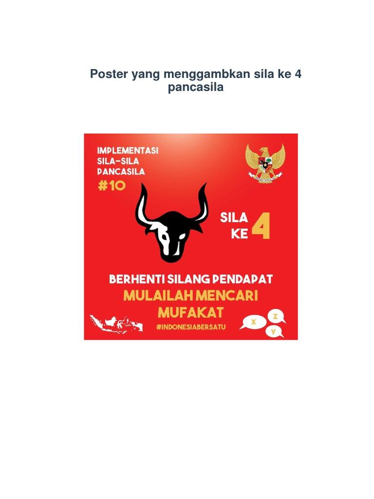 Poster Yang Menggambkan Sila Ke 4 Pancasila Docx