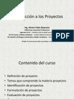 Introducción de proyectos