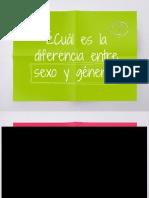 Diferencia entre sexo y género
