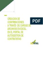 Creación de Confirmaciones en Portal de Provedores SUS