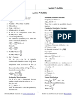 Applied Probability Notes