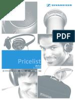 Pricelist 2006 Sennheiser