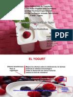 tecnologia y produccion de yogurt, alimentos probioticos..docx