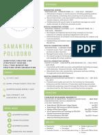 professional resume - samantha polidoro