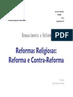 Reforma e contrareforma