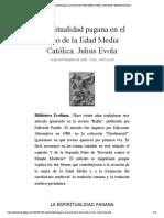 Espiritualidad pagana en el seno de la ...ca. Julius Evola | Biblioteca Evoliana